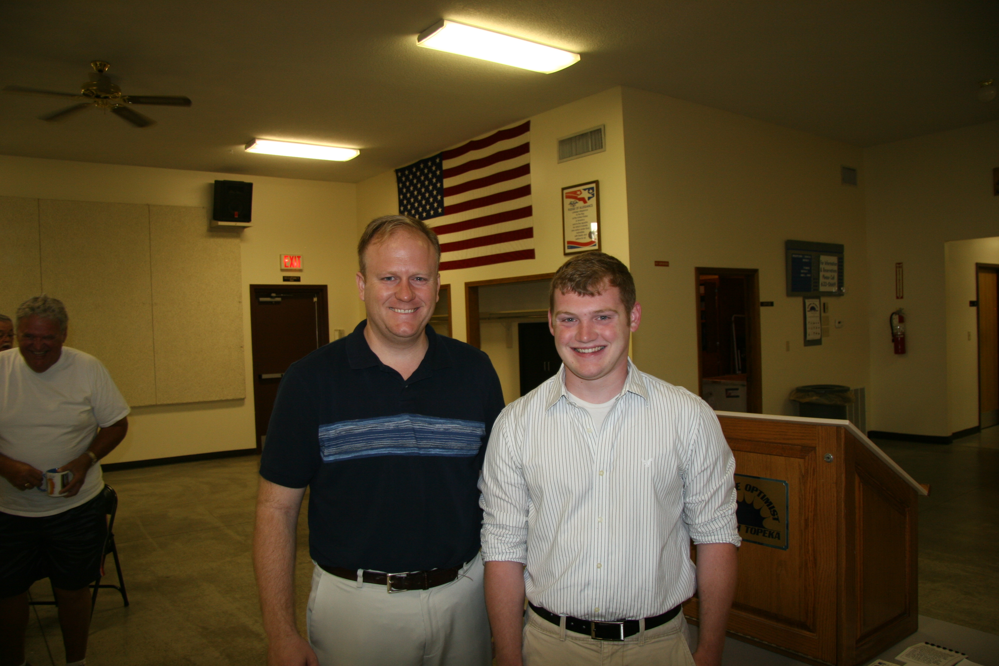Rep. Mike Burgess Congratulates the 23rd delegate he sponsored to Boys and Girls State
